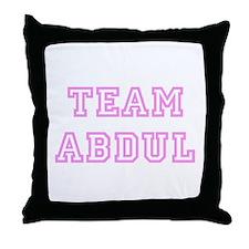 Pink team Abdul Throw Pillow