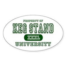 Keg Stand University Oval Decal