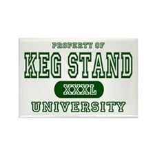 Keg Stand University Rectangle Magnet