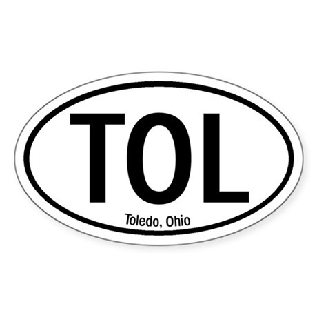 Toledo, Ohio Oval Sticker