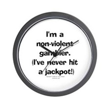 N-V. Gambler Wall Clock