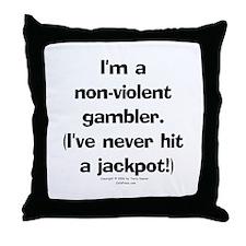 N-V. Gambler Throw Pillow