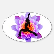 Lotus Yogini Rectangle Decal