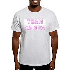 Pink team Damon Ash Grey T-Shirt