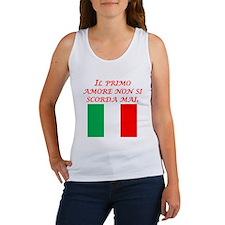 Italian Proverb First Love Women's Tank Top