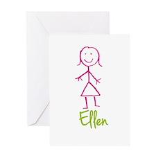 Ellen-cute-stick-girl.png Greeting Card