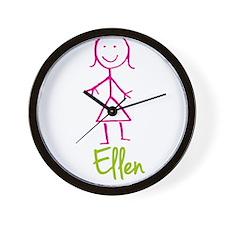 Ellen-cute-stick-girl.png Wall Clock