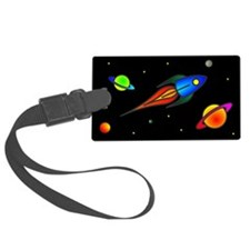 Rockets and Planets Luggage Tag