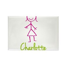 Charlotte-cute-stick-girl.png Rectangle Magnet