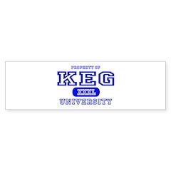 Keg University Property Bumper Bumper Sticker