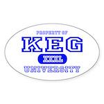 Keg University Property Oval Sticker