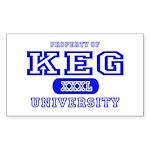 Keg University Property Rectangle Sticker