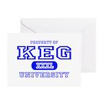 Keg University Property Greeting Cards (Package of