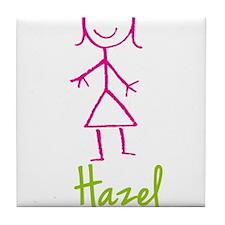 Hazel-cute-stick-girl.png Tile Coaster