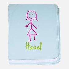 Hazel-cute-stick-girl.png baby blanket