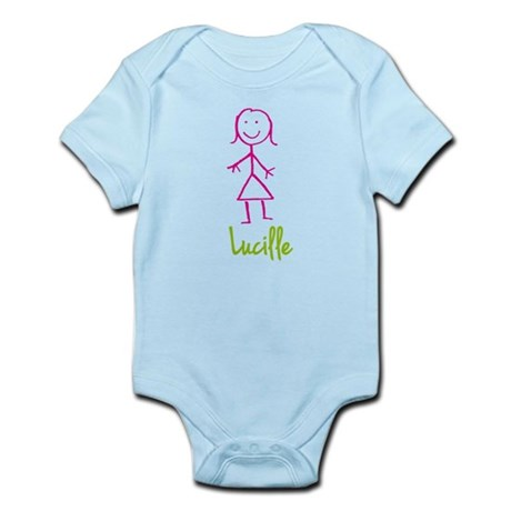 Lucille-cute-stick-girl.png Infant Bodysuit