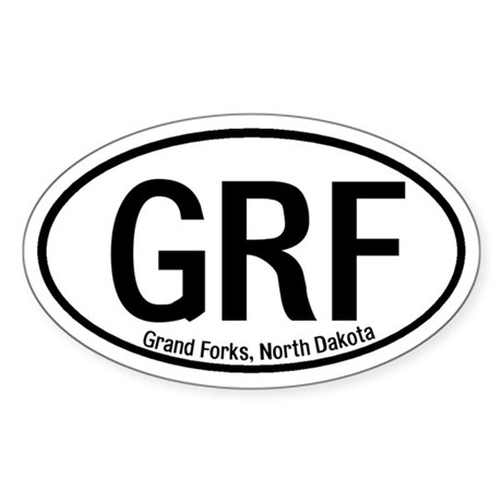 Grand Forks, North Dakota Oval Sticker
