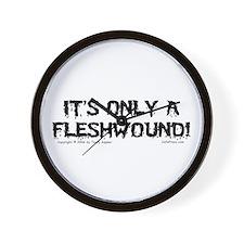 Fleshwound (black) Wall Clock