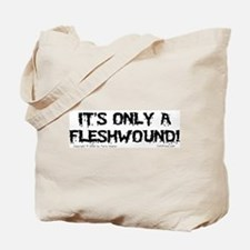 Fleshwound (black) Tote Bag