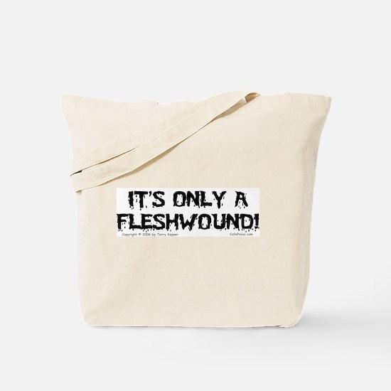 Fleshwound (black) Tote Bag