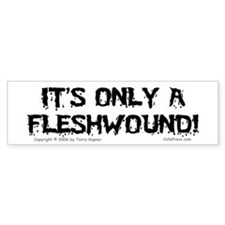 Fleshwound (black) Bumper Car Sticker