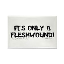 Fleshwound (black) Rectangle Magnet