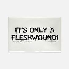 Fleshwound (black) Rectangle Magnet