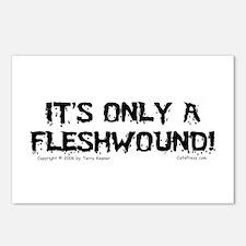 Fleshwound (black) Postcards (Package of 8)