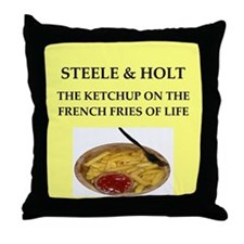 steele and holt Throw Pillow