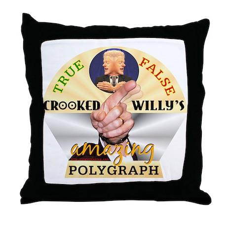 Clinton Polygraph Throw Pillow