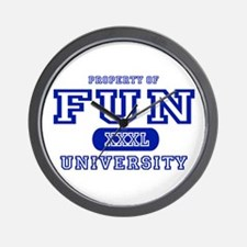 Fun University Property Wall Clock