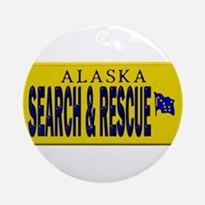 Alaska Search Rescue Ornament (Round)