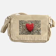 Raspberry Heart Messenger Bag