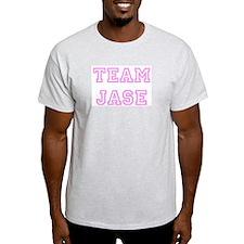 Pink team Jase Ash Grey T-Shirt