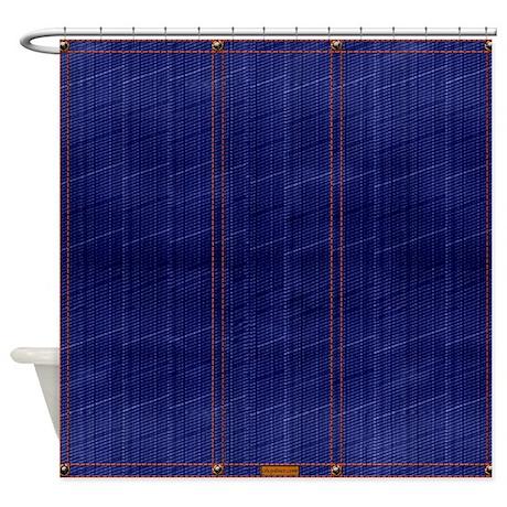 blue denim dark shower curtain by cheylines. Black Bedroom Furniture Sets. Home Design Ideas