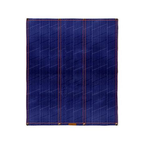 Blue Denim Dark Throw Blanket