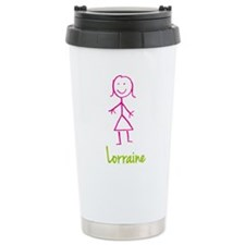 Lorraine-cute-stick-girl.png Travel Mug