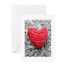 Raspberry Heart Greeting Card