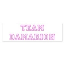 Pink team Damarion Bumper Bumper Sticker