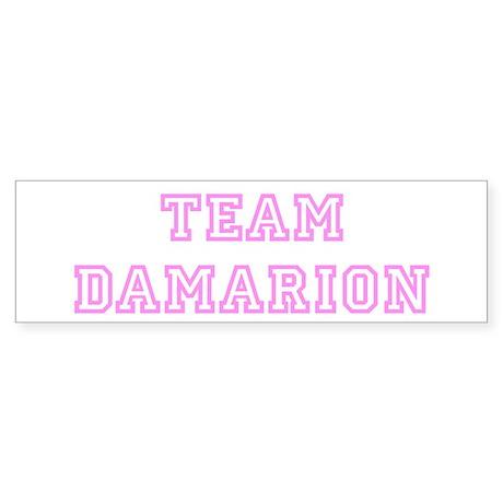 Pink team Damarion Bumper Sticker