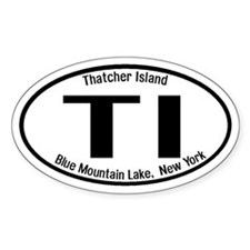 Thatcher Island, New York Oval Decal