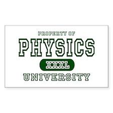 Physics University Rectangle Decal