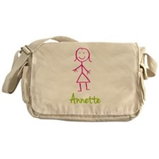 Annette-cute-stick-girl.png Messenger Bag