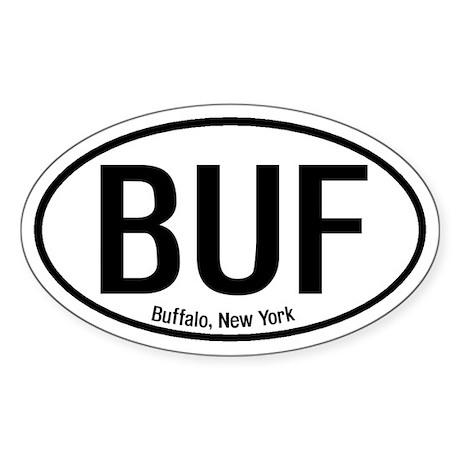 Buffalo, New York Oval Sticker