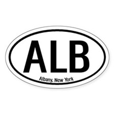 Albany, New York Oval Decal