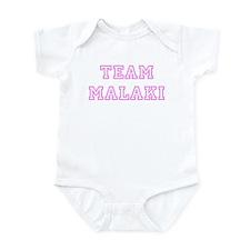 Pink team Malaki Infant Bodysuit
