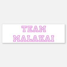 Pink team Malakai Bumper Bumper Bumper Sticker