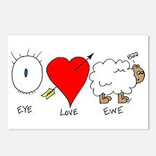 Eye Heart Ewe Postcards (Package of 8)
