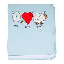 Eye Heart Ewe baby blanket
