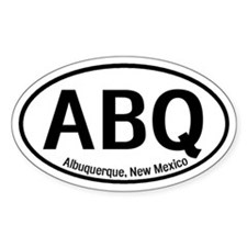 Albuquerque, New Mexico Oval Decal